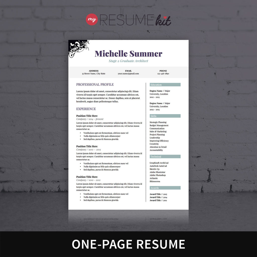 Gmail theme template -  Resume Template For Word Theme Michelle Classic Look In Purple