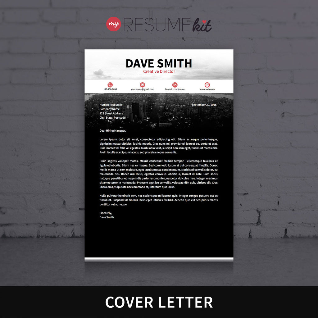 resume template for word theme david modern resume with red