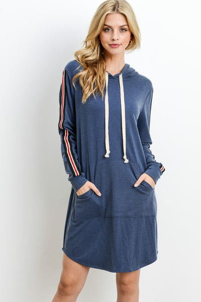 Washed French Terry Hoodie Dress