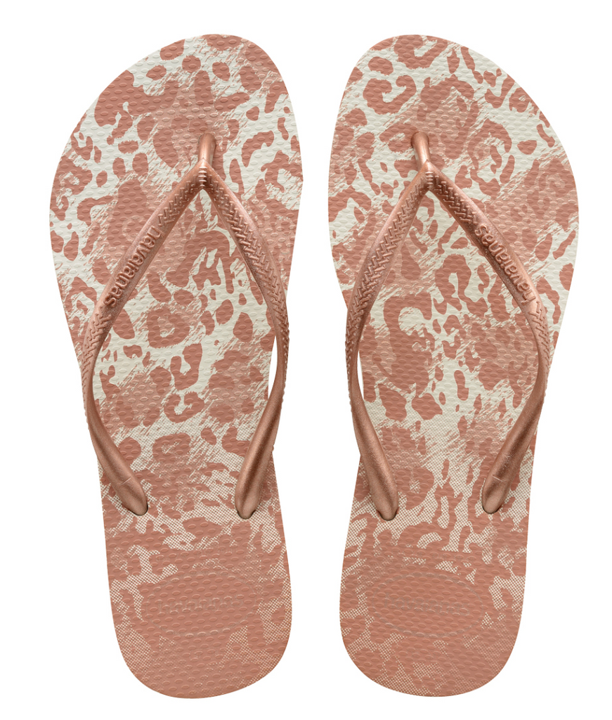 SLIM ANIMALS SANDAL WHITE/GOLDEN BLUSH - havaianas