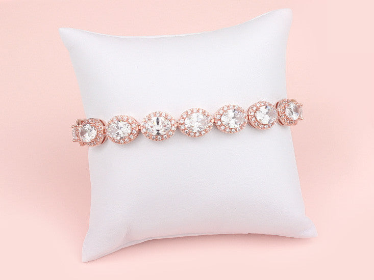 Halo Bracelet - Rose Gold