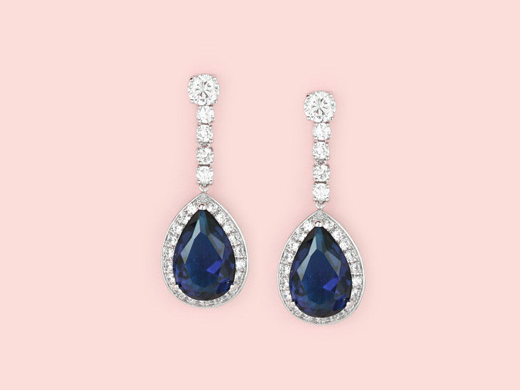 London Earrings - Sapphire