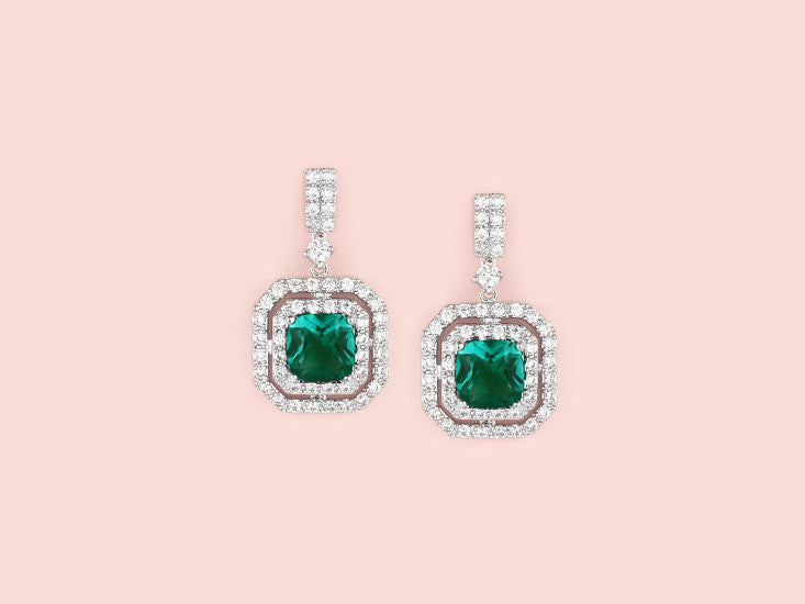 Lana Earrings - Emerald