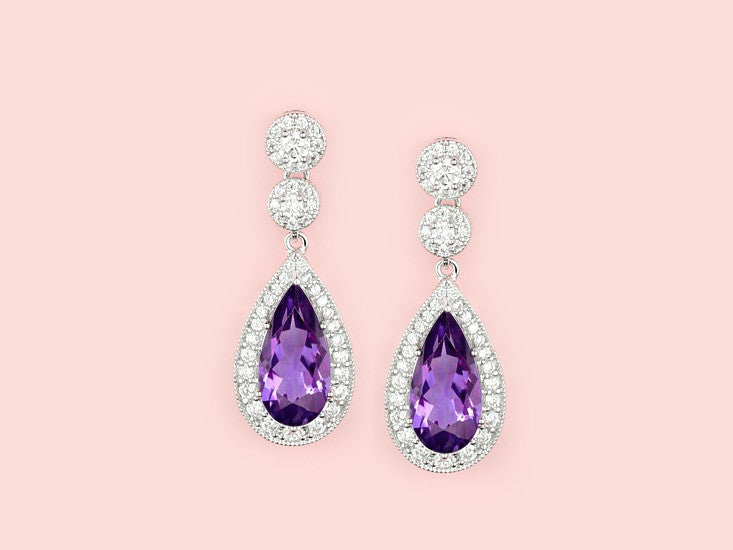 Contessa Earrings - Amethyst