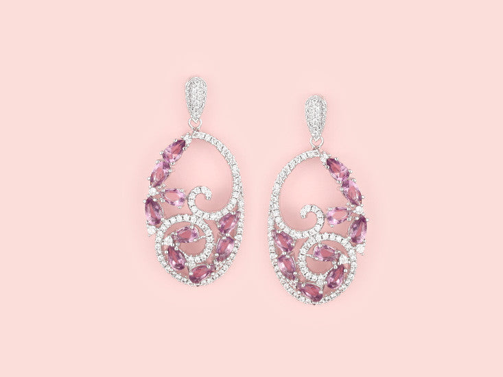 Ceci Earrings - Amethyst