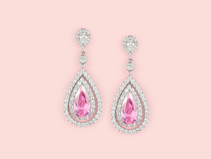 Tasmin Earrings - Pink