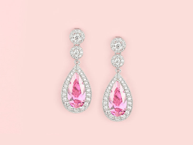 Contessa Earrings - Pink