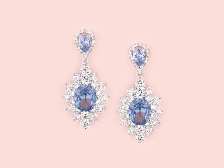Ariana Earrings - Light Sapphire