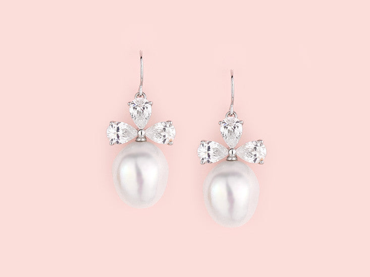 Lola Earrings - Baroque Pearl
