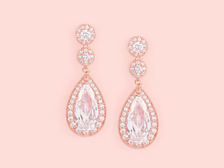 Contessa Earrings - Rose Gold