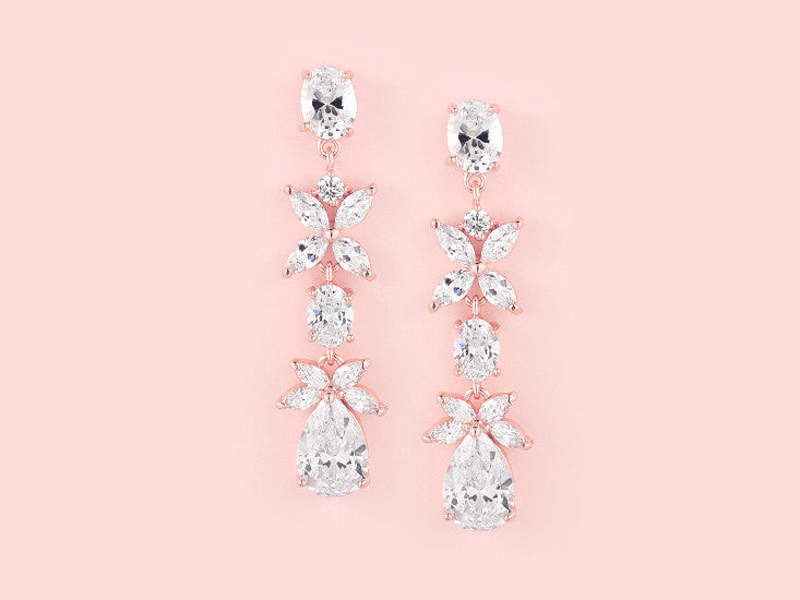 Aubree Earrings - Rose Gold