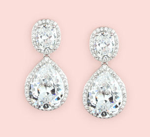 Halo Bridal Earrings