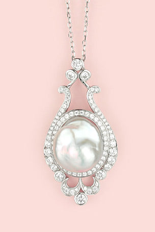 Isadora Sterling Silver Pearl Necklace