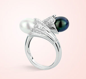 Serefina Sterling Silver Pearl Ring