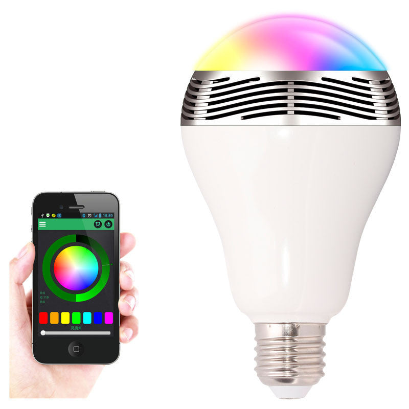 Dimmable Bluetooth Smart LED Bulb w/ Music Speaker / Smartphone App