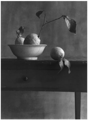 COIGNY Christian (1946).  Nature morte aux citrons