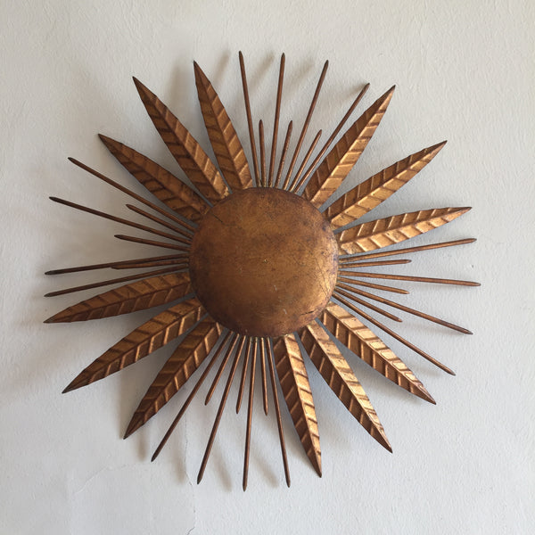 Vintage Sunburst Wall Light - Applique Vintage Soleil - Free delivery UK - Livraison gratuite France