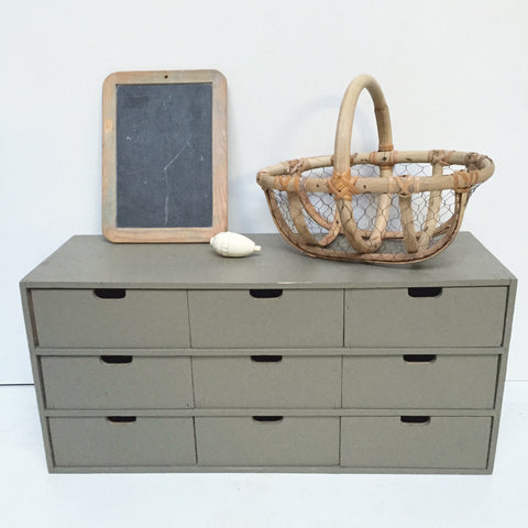 Chest of drawers- Casier 9 tiroirs en bois- Free Delivery UK-Livraison Gratuite France