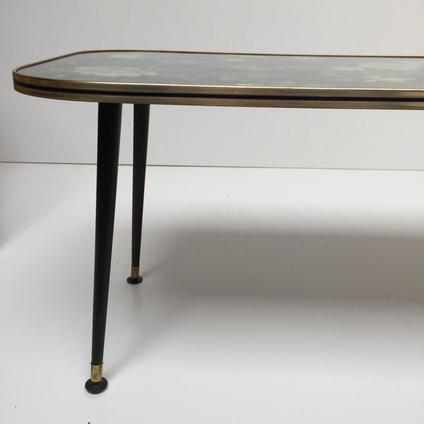 Large Vintage Coffee Table Dansette Legs - Table Basse Vintage Pieds Fuseaux  - Free delivery UK France