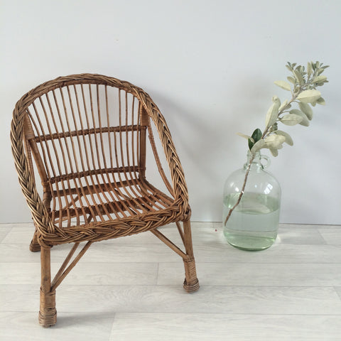 Child's Wicker Chair - Fauteuil enfant rotin - Free delivery UK France