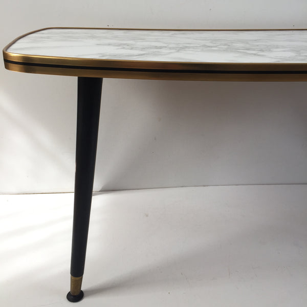 89cm Vintage Coffee Table 1950s - Table Basse Vintage 89cm Effet Marbre - Free delivery UK France