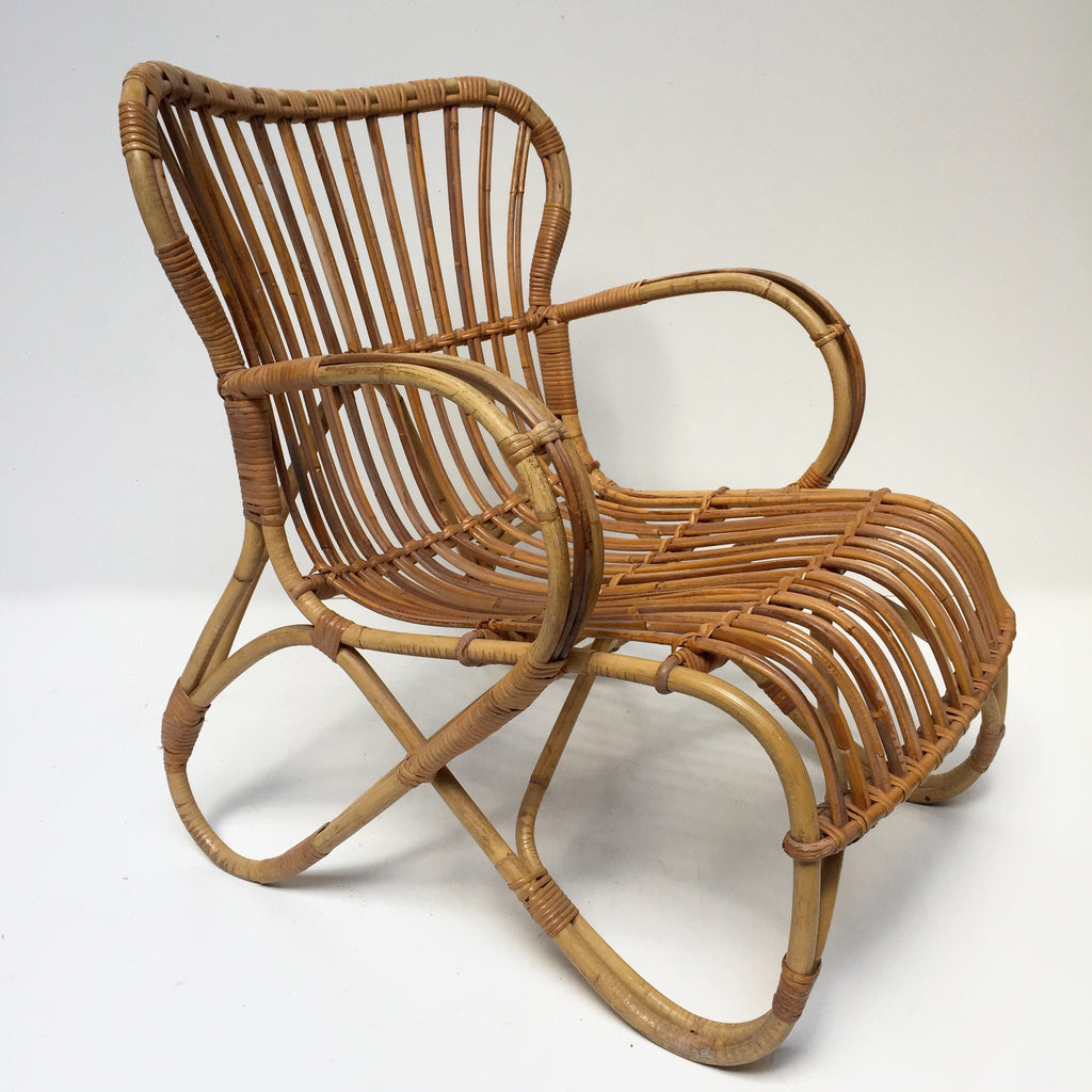 Vintage Wicker Chair Fauteuil Rotin Vintage Free Delivery UK - Fauteuil en rotin vintage