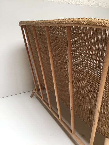 Rattan Wicker Lloyd Loom Settee Sofa - Banquette Canapé Lloyd Loom - Free delivery - Livraison Gratuite