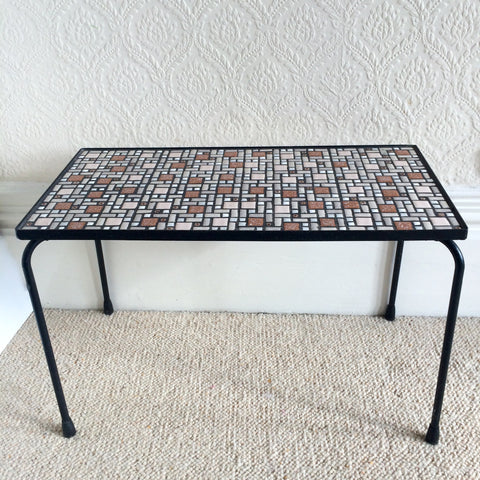 A Vintage 1970s Mosaic Ceramic Table - Table Vintage Mosaique Ceramique - free delivery UK France