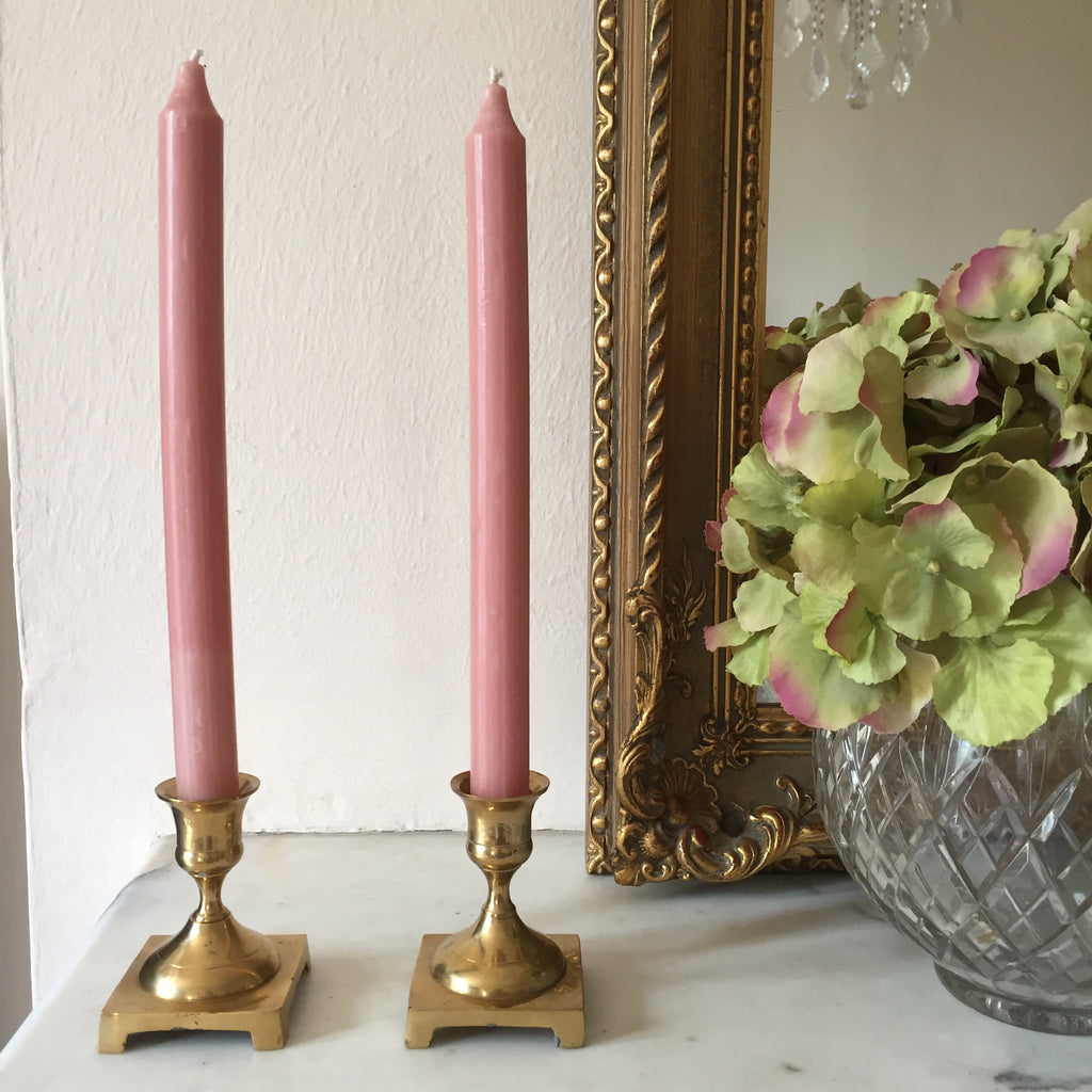 Vintage Brass Candle Holder - Paire de Bougeoirs Vintage Laiton - Free delivery UK - Livraison gratuite France