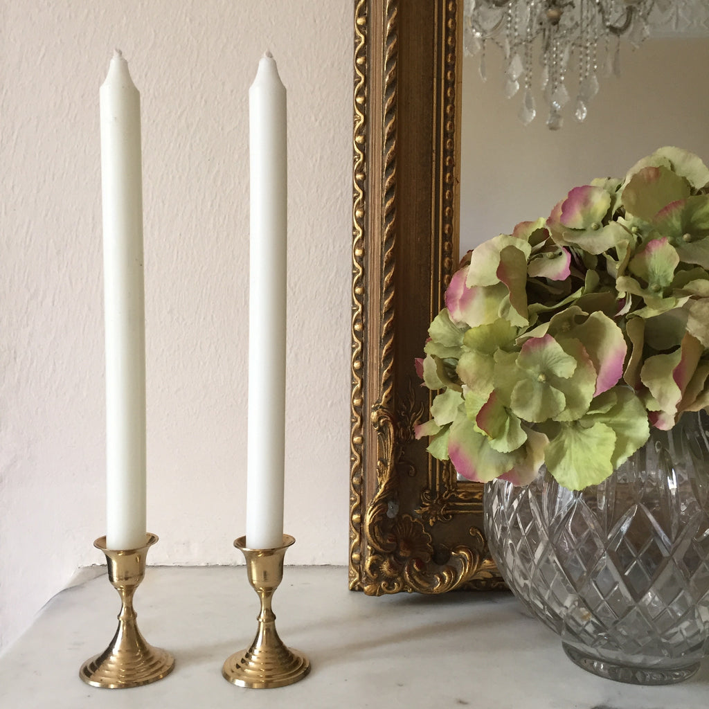 Vintage Gold Candle Holder - Paire de Bougeoirs Vintage Metal Doré - Free delivery UK - Livraison gratuite France
