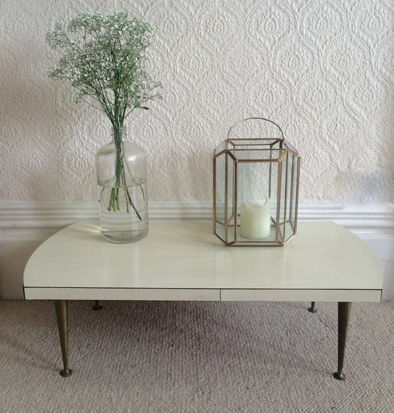 An Ivory 1950s Vintage Coffee Table - Table Basse Annees 50 free delivery UK- Livr. gratuite & France