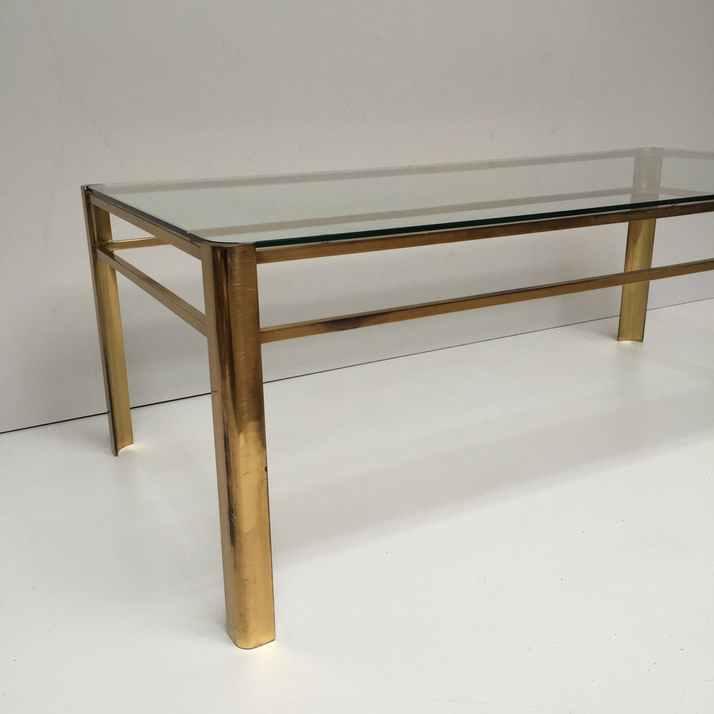 A vintage french glass and metal coffee table table de salon a vintage french glass and metal coffee table table de salon vintage verre et metal geotapseo Image collections
