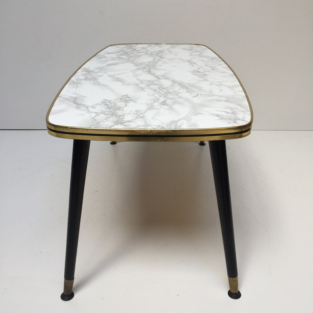 Marble Effect Coffee Table Uk: 90cm Marble Effect Vintage Coffee Table 1950s