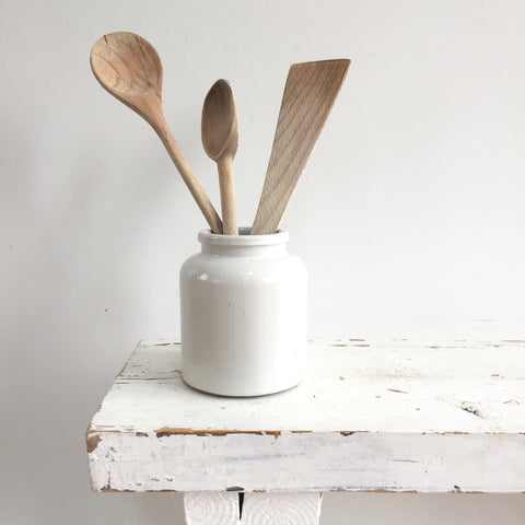 A White Vintage Utensil Pot - Pot à Ustensiles Blanc - Free delivery UK France Belgium