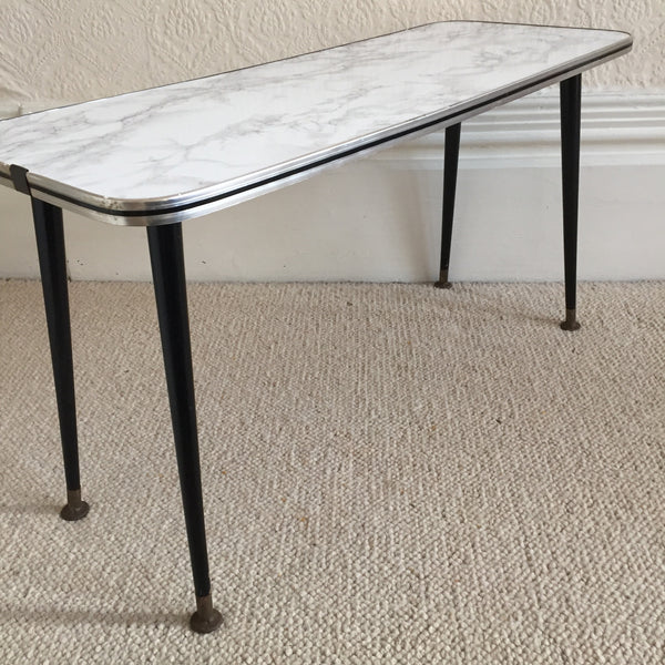Small Marble Effect Vintage Coffee Table 1950s - Petite Table Basse Vintage Effet Marbre - Free delivery UK France