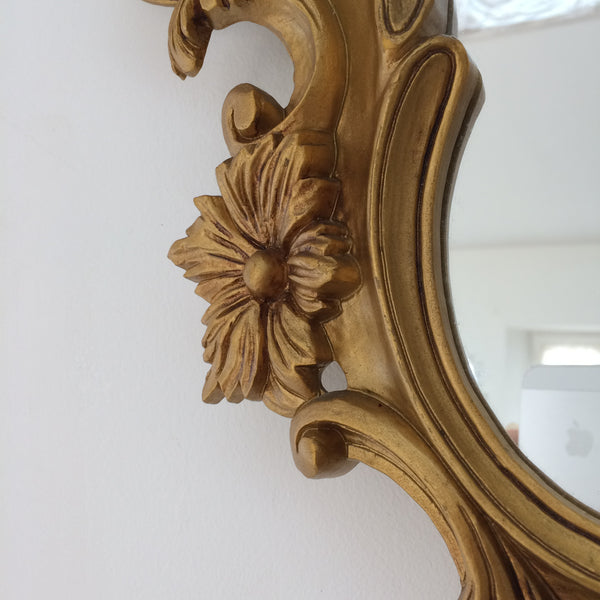 Rococo Vintage French Baroque Gold Mirror - Miroir Ovale Doré Coquille Baroque Rococo - Free delivery UK and France