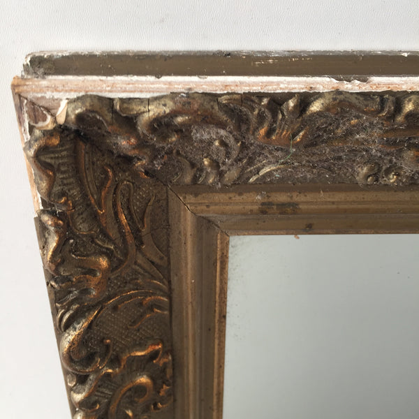 Antique French Shabby Chic Gold Gilded Mirror - Miroir Ancien Doré Shabby- Free delivery UK - Livraison gratuite France