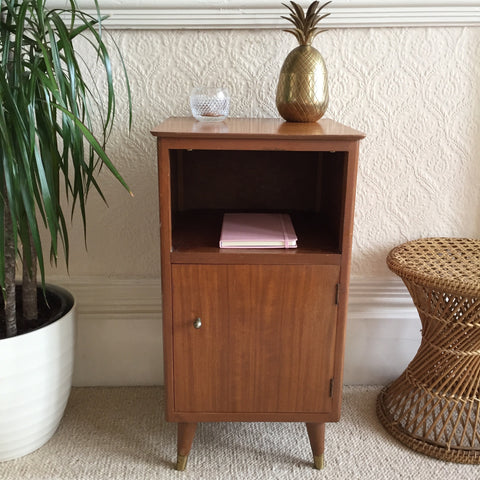 Vintage Bedside Table Cabinet 1950s - Petit Meuble Cabinet Chevet Vintage - Free delivery UK France