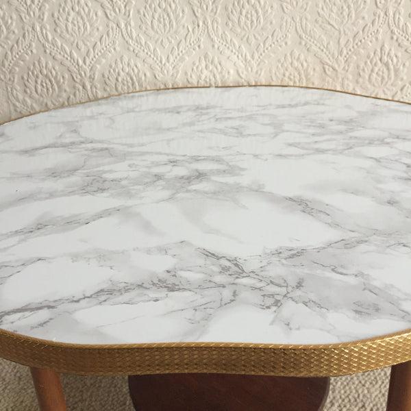 Marble Effect Vintage Cloud Coffee Table 1950s - Table Basse Vintage Nuage Effet Marbre - Free delivery UK France