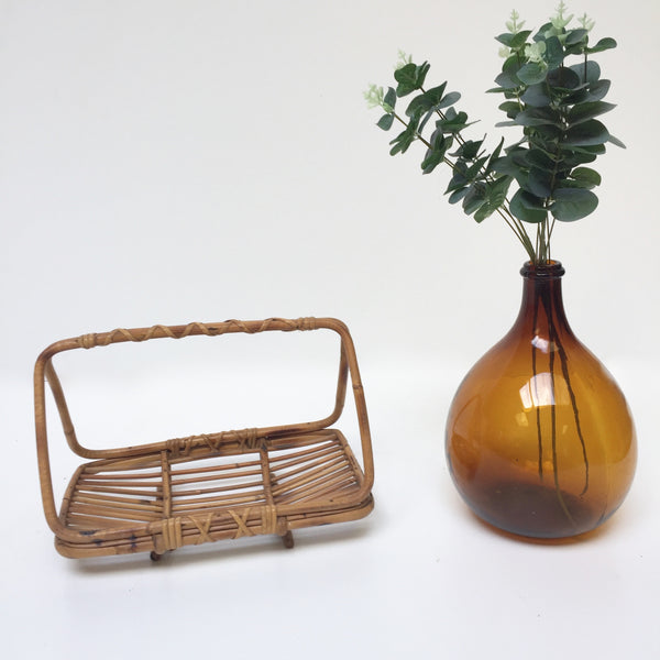 Vintage Bamboo Wicker Fruit Basket - Corbeille a Fruits en Bambou Rotin Vintage - Free Delivery UK-Livraison Gratuite France