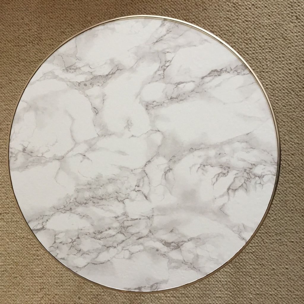 Round Marble Effect Vintage Coffee Table 1950s - Table Basse ...
