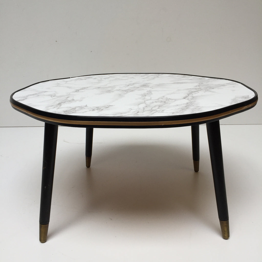 marble effect vintage cloud coffee table 1950s table basse. Black Bedroom Furniture Sets. Home Design Ideas