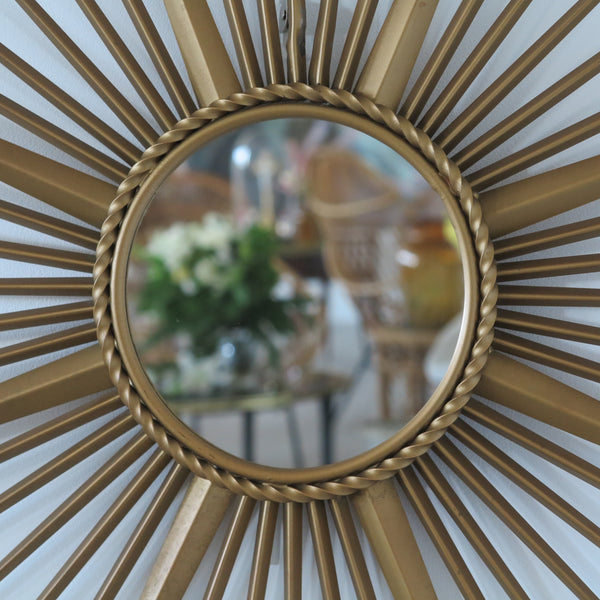 1950s French Sunburst Chaty Vintage Mirror - Miroir Soleil Chaty Vallauris 90 cm - Free delivery UK - Livraison gratuite France Belgique