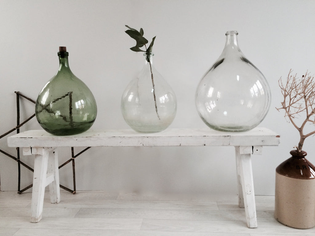 Vintage Demi-John Large Glass Bottles