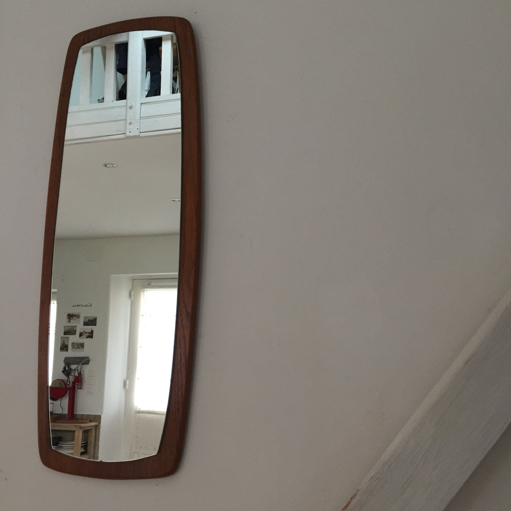 1960s teak retro mid century vintage mirror miroir teck. Black Bedroom Furniture Sets. Home Design Ideas