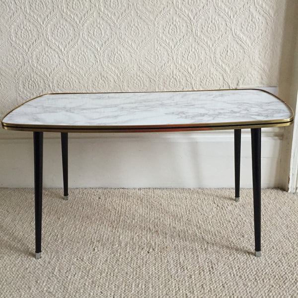 75 cm Marble Effect Vintage Coffee Table 1950s - Table Basse Vintage 75cm Effet Marbre - Free delivery UK France