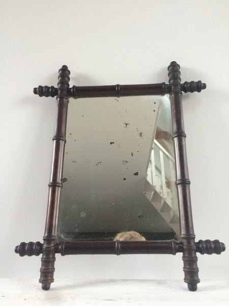 Vintage Bamboo Mirror 1920