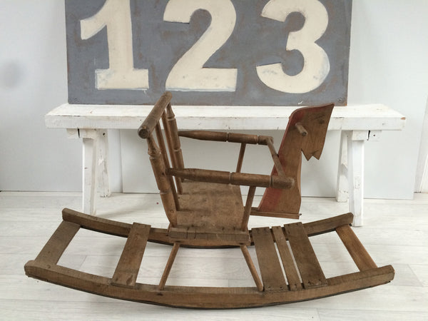 Child's Rocking Horse 1950s - Cheval a Bascule Vintage