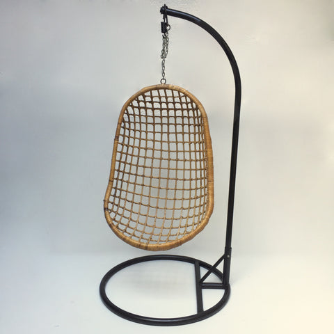 Vintage Wicker Hanging Chair 1960s- Fauteuil Suspendu en Rotin Vintage- Free delivery UK- Livraison gratuite France