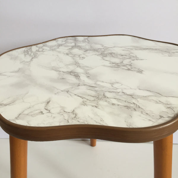 Small Marble Effect Vintage Cloud Coffee Table 1950s - Petite Table Basse Vintage Nuage Effet Marbre - Free delivery UK-Livraison Gratuite France